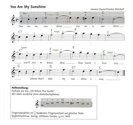 You Are My Sunshine Noten S. 6