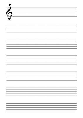 Notenblatt Große Linien
