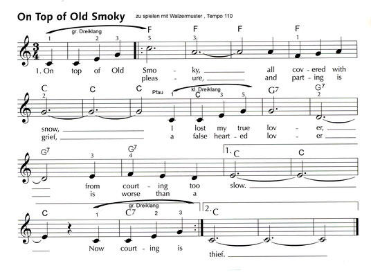 On Top of old Smokie Noten S. 4