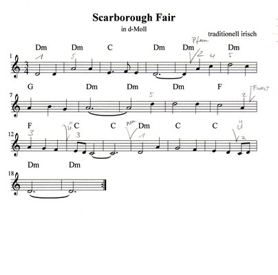 Scarborough Fair Noten