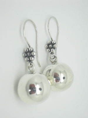 Sterling Silver Ball Drop Earwires