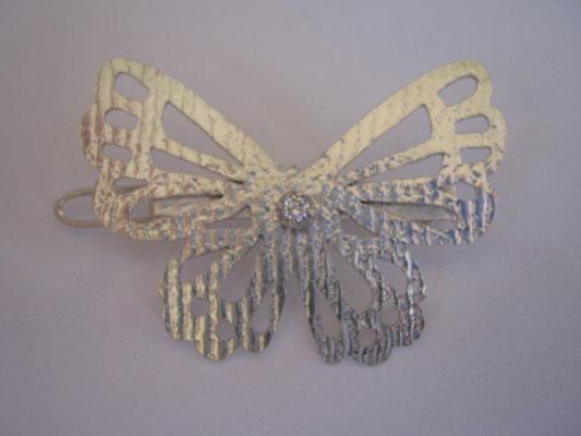 """Marine"" (Fr. Mar-in) Sterling Silver & Diamond Hair Clip - SOLD"