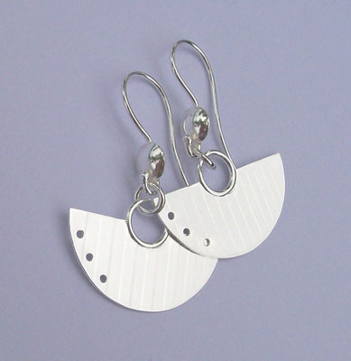 """Arc Arc"" Earrings, Sterling Silver"