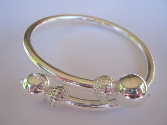 """Gypsie"" Sterling Silver Bangle"