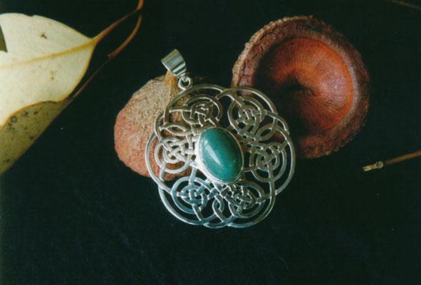"""""""For Beryl"""" - Sterling Celtic Pendant"""