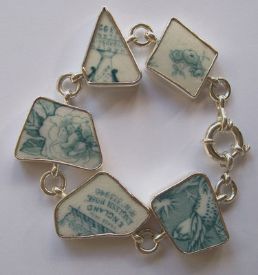 """Mrs Browning"" - Sterling Silver & found China"