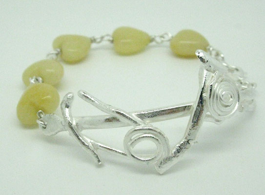 Sterling & Yellow Jade