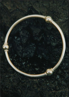 3 Ball Sterling Silver Bangle
