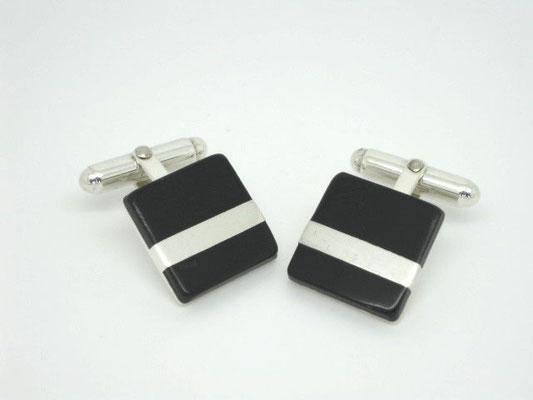 Resin & Sterling Silver Cufflinks