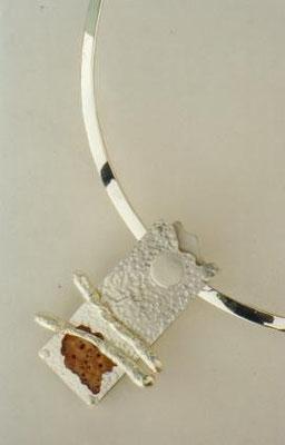 """""""Landscape"""" - Sterling Silver & Coral"""