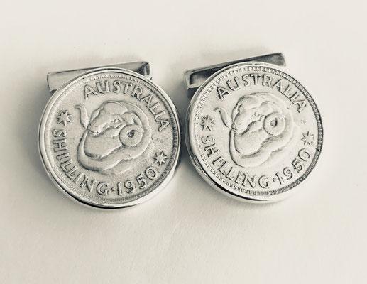 Sterling Silver Coin Cufflinks