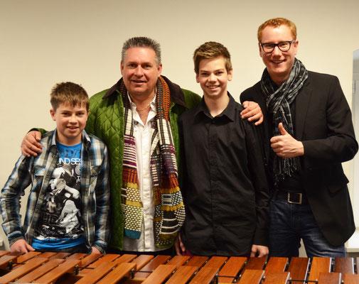 Prof. Dr. Peter Sadlo und meine Schüler Lukas Sepperer und Daniel Semmelrock