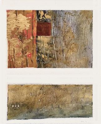Studies 5 for Berlin winter scenes - mixed media on paper, ≈ 30/25 cm - Ref. WP224