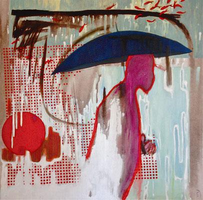 Regen -oil on canvas - 80/80cm