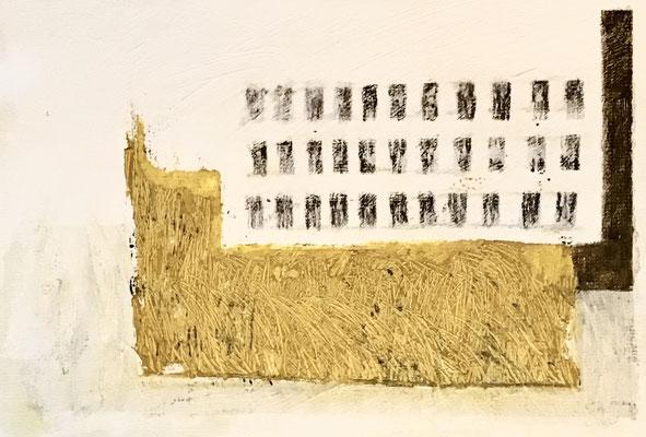 Studies 12 for Berlin winter scenes - mixed media on paper,  ≈ 30/25 cm - Ref. WP223