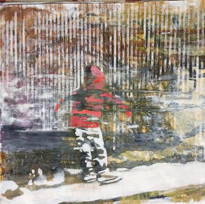 """Studies for """"die Eislaufbahn, (Berlin winter scene)"""", mixed media on paper, 90/90cm - Ref. WP22"""