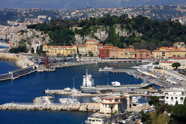 Der Hafen von Nizza.