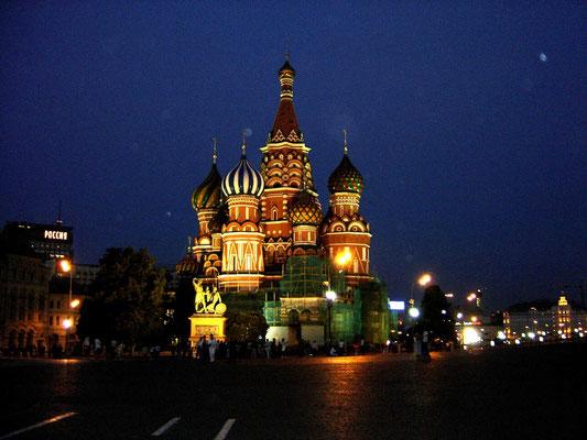Die Basilius- Kathedrale in Moskau.