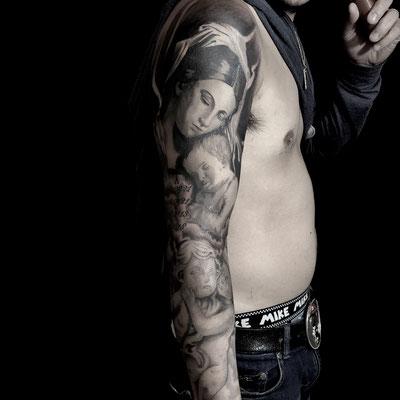 マリア,レター,タトゥー,刺青,tattoo,埼玉,さいたま市,大宮,jadetattoo,ジェイドタトゥー,takuyanakayama