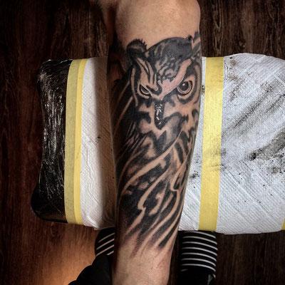 梟,彫り師,タトゥー,刺青,tattoo,埼玉,大宮,浦和,さいたま市,jadetattoo,ジェイドタトゥー,takuyanakayama