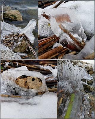Evelyne Blums Art zu fotografieren natürliche Eiskunst 3 am Murtensee