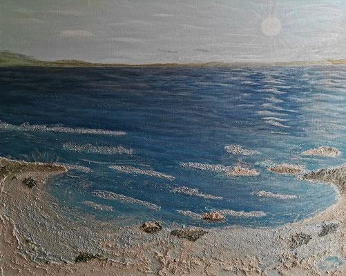 oeuvre en acryl Nr 9 taille 100 x 80 x 4.5 cm