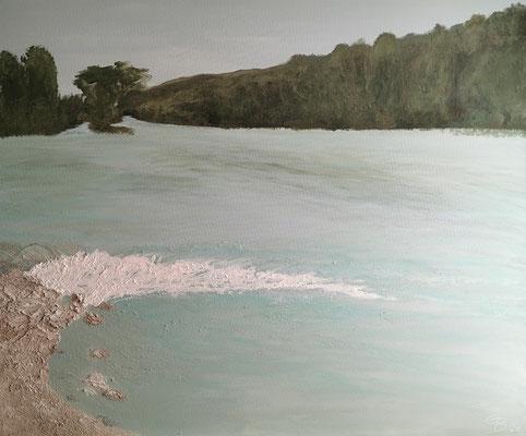 oeuvre en acryl Nr 12 taille 120 x 100 x 4.5 cm