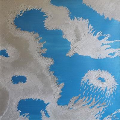 Acrylwerk Quallenbucht, Grösse 70 x 70 x 4.5 cm
