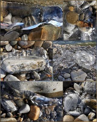Evelyne Blums zu fotografieren Steine im Eis