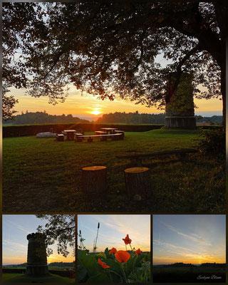 Sonnenuntergang Denkmal Bramberg