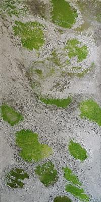 Acrylwerk Frühlingsbote Grösse 40 x 80 x 4.5 cm