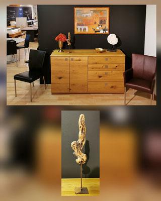 "Sculpture en bois flottant ""erhobener Finger"""