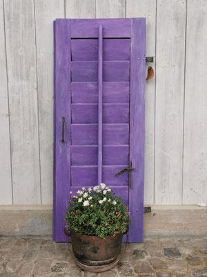 violetter Fensterladen