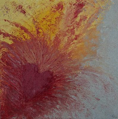 Leinwandbild Herzblut Grösse 50 x 50 x 4.5 cm