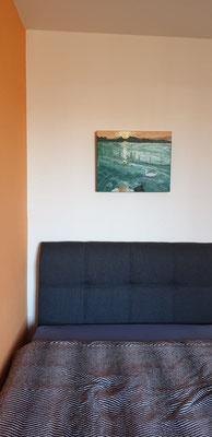 Kunst mit Wasser Acrylbild im Zimmer