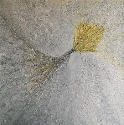 oeuvre en acryl abstrait, gebündelte Energie, taille 40 x 40 x 4.5 cm