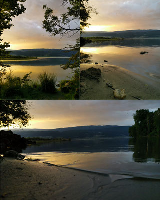 Sonnenuntergang in Hagneck