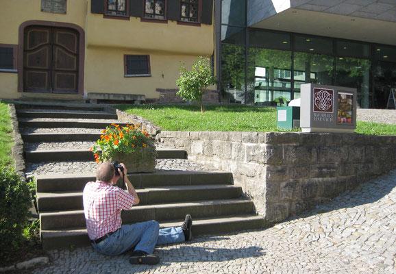 """Peter Bach jr. """"fotografiert in Sachen Bach""""."""
