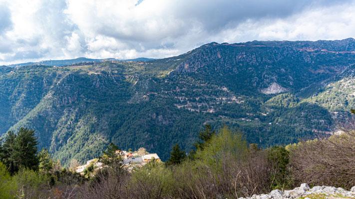 View of the Jabal Moussa mountains