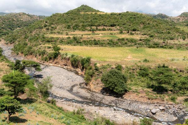 Petite vallée bucolique entre Ankober et la région d'Awash.