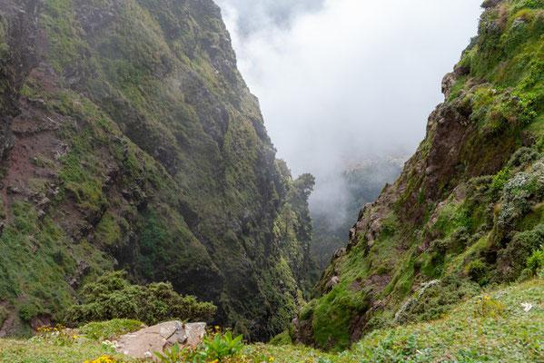 Paysage des montagnes d'Ankober