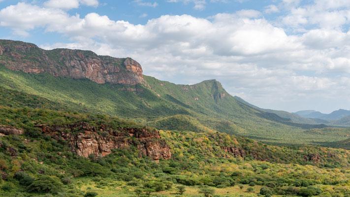 Wild mountain on the border of Kenya