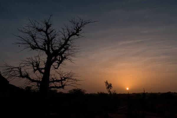 Sunset on the Somone laguna
