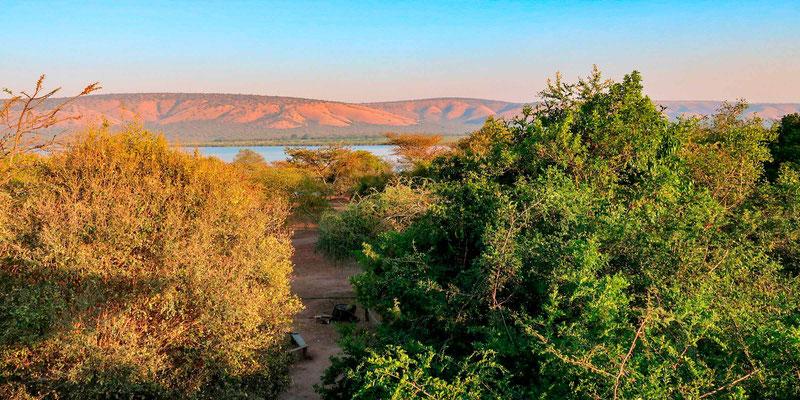 Vue sur le lac Mburo depuis le lodge Arcadia