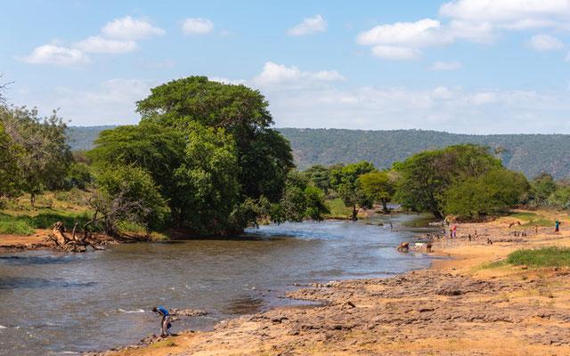 Rivière sur la route de Negele