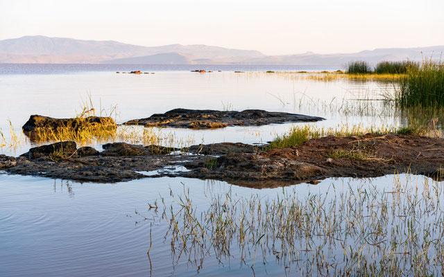 Langano lake by day