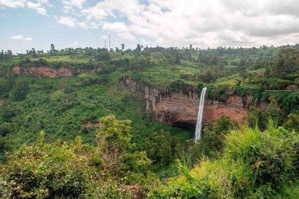 Sipi Falls dans la région du Mont Elgon