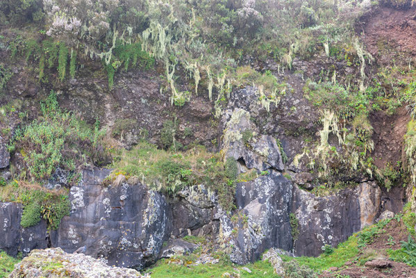 Ankober mountain wall