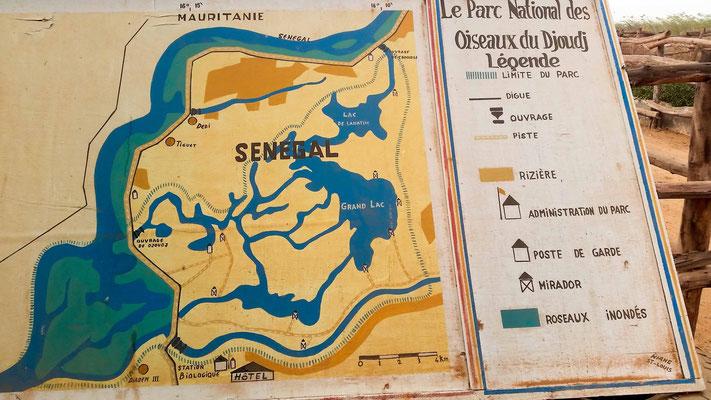 Plan peu précis du Parc National du Djoudj