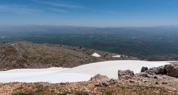 Vue depuis le sommet sur la Bekaa